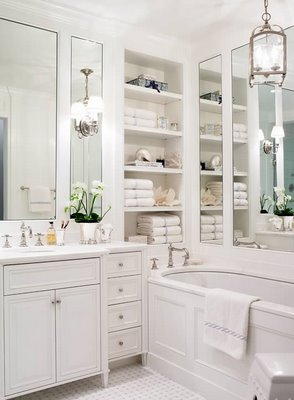 Photo Home Staging - Salle de bain blanche