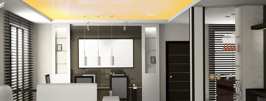 le plafond tendu pratique et esth tique l 39 habitation. Black Bedroom Furniture Sets. Home Design Ideas
