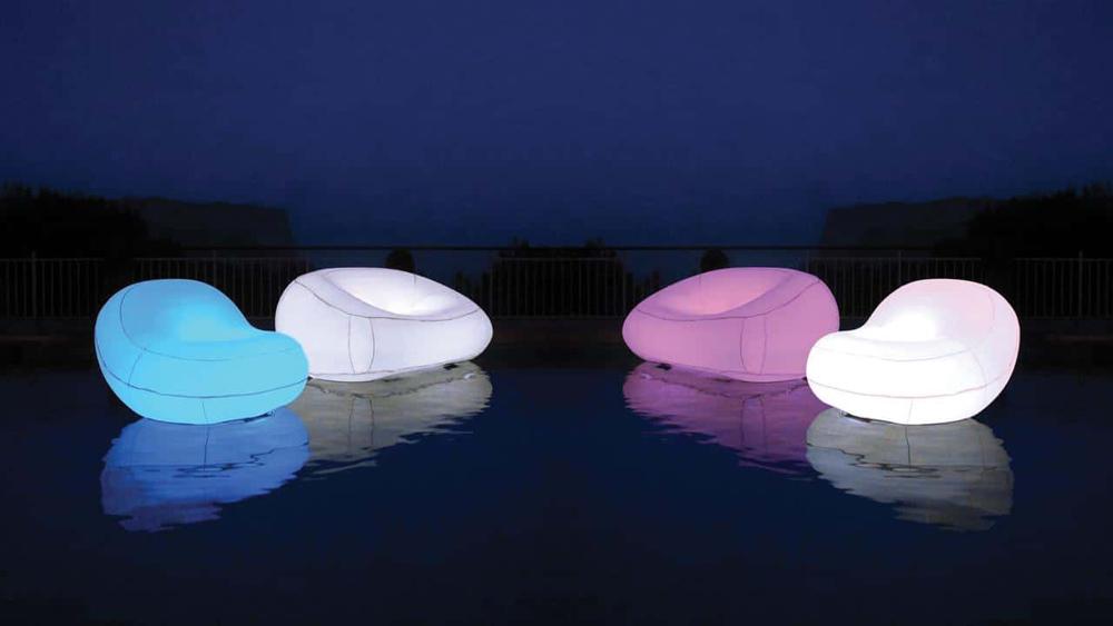 Des id es pour illuminer son jardin de jour comme de nuit - Mobilier jardin lumineux ...