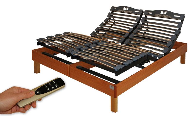 lit sommier electrique maison design. Black Bedroom Furniture Sets. Home Design Ideas